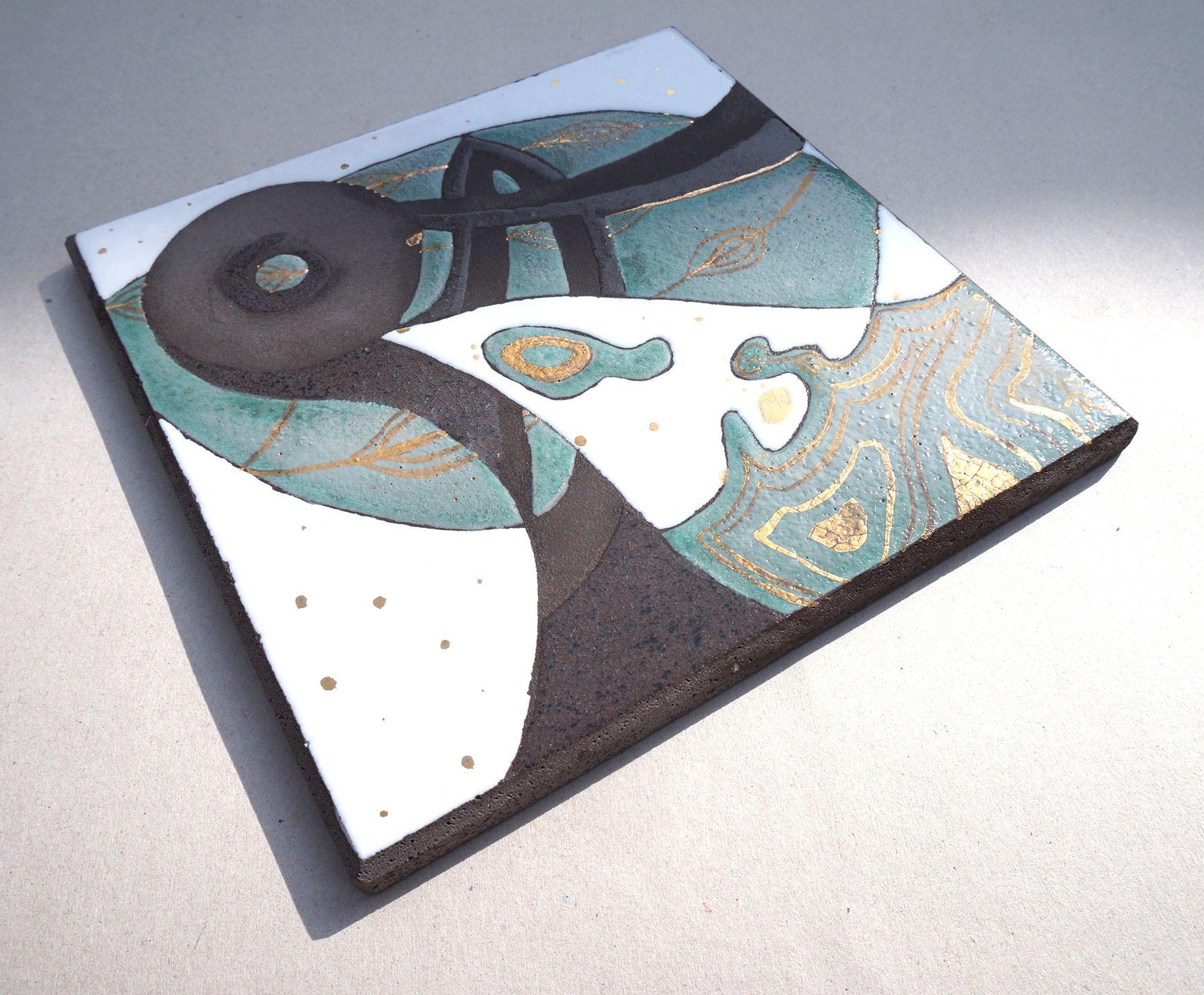 dessous de plat en lave maill e vert cuisine et service de table par pepite de lave art. Black Bedroom Furniture Sets. Home Design Ideas