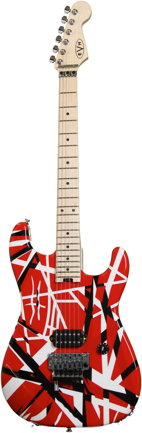 Evh Striped Series Red W Black Stripes Guitar Collection Eddie Van Halen Guitar