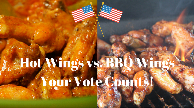 While America votes, I'll be watching the results and voting on a tastier proposition: Hot Wings vs. BBQ Wings! Cast your vote! #USElection