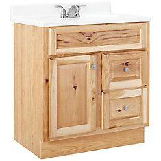 Hampton 30 Inch W Vanity In Natural Hickory Finish Vanity Cabinet Bathroom Vanities Without Tops Bathroom Vanity Base