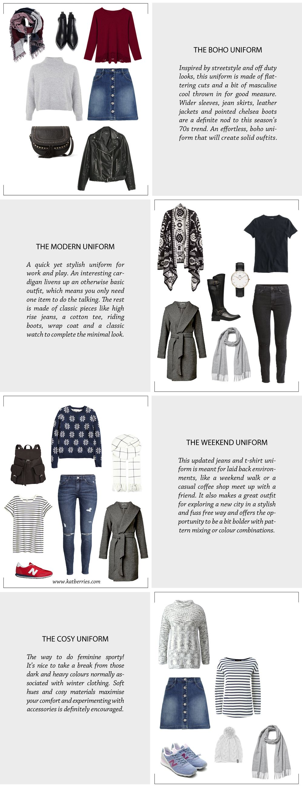 My Winter 2017 Capsule Wardrobe: My Winter Capsule Wardrobe Uniforms For Building Outfits