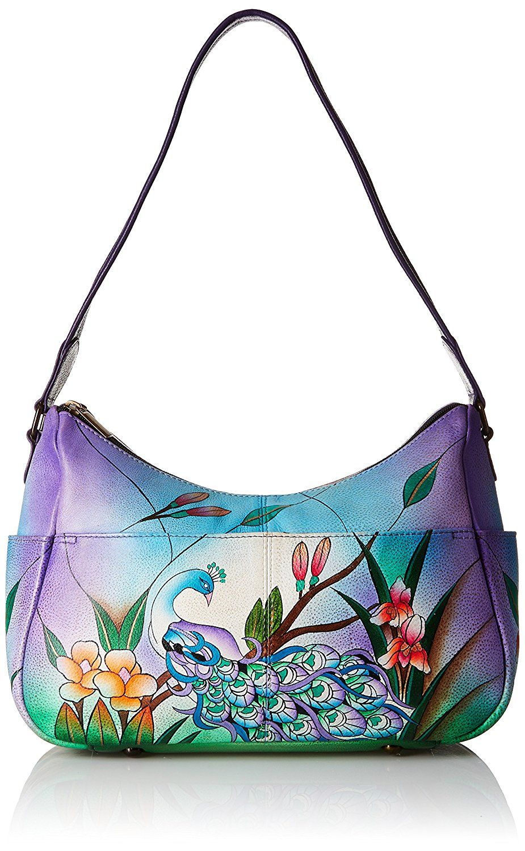 Womens Designer Handbag Real Leather Multi Zip Pocket Medium Hobo Shoulder bag