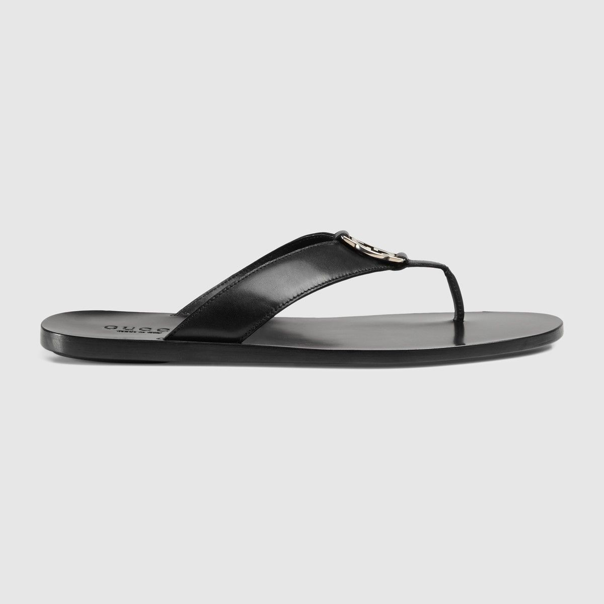 2dceb6a3e GUCCI Leather Thong Sandal - Black Leather. #gucci #shoes #all ...