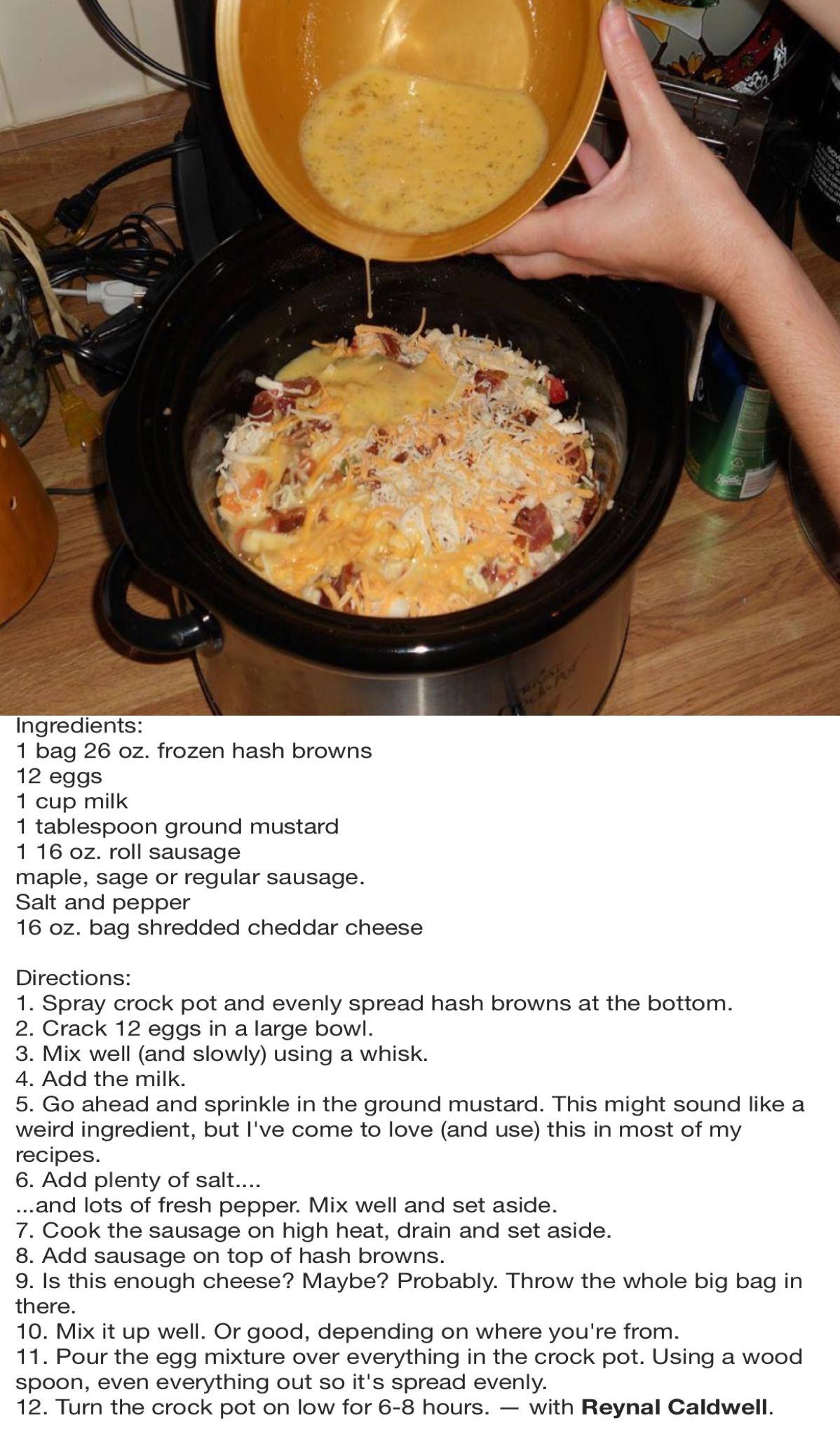 The 25+ best Breakfast casserole in crockpot ideas on Pinterest | Egg casserole in crockpot ...