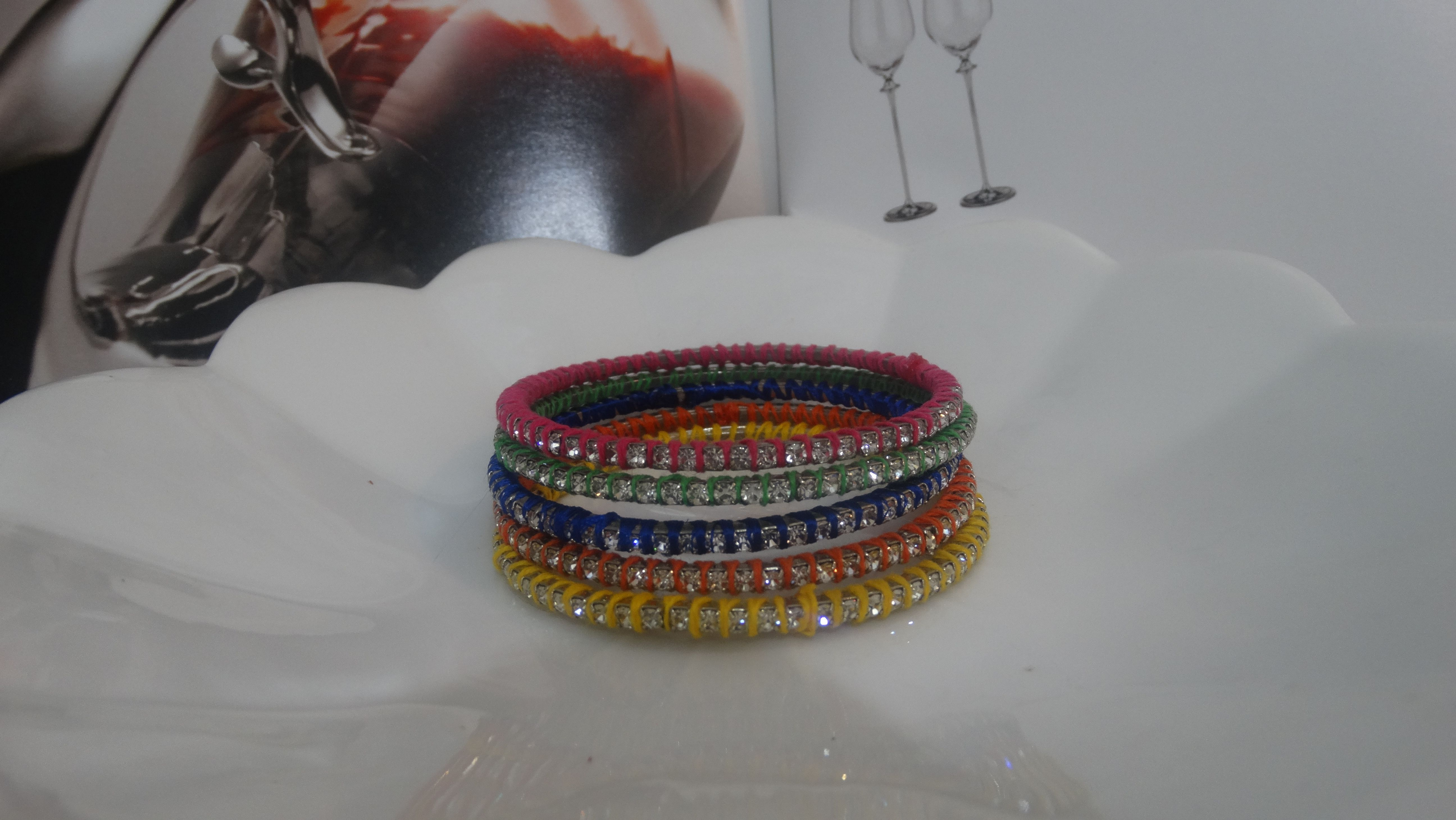 Colored Wrapping Bracelet