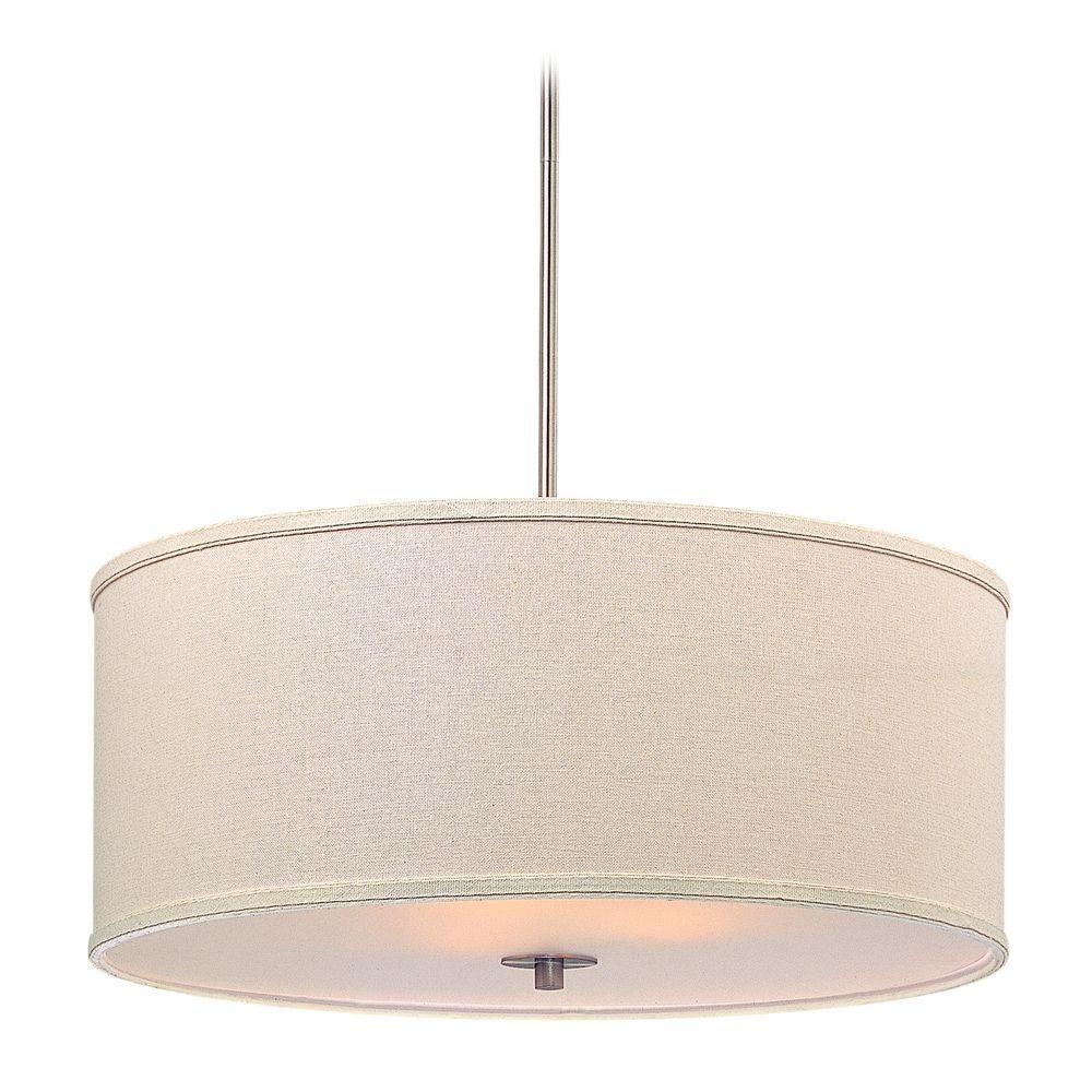 modern drum pendant lighting. Design Classics Lighting Large Modern Drum Shade Pendant Light In Satin Nickel Finish DCL 6528- N