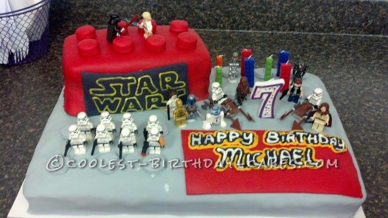 Birthday Cake Ideas Lego ~ Cool star wars lego cake cake and star wars cake