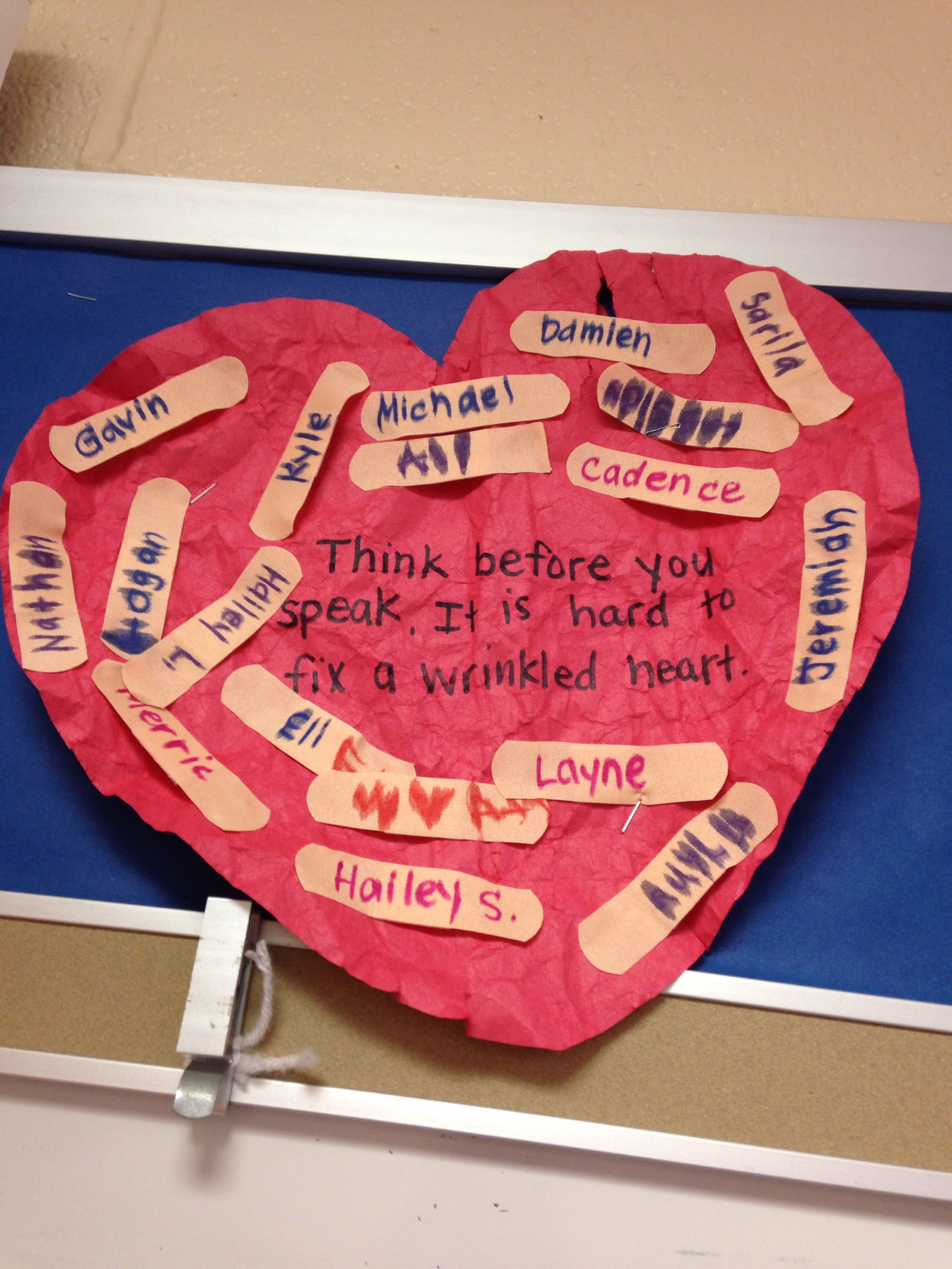 love this activity for a lesson on bullying!!