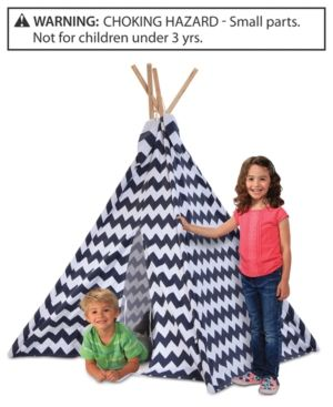 Discovery Kids Wood And Canvas Play Teepee Blue Products Pinterest