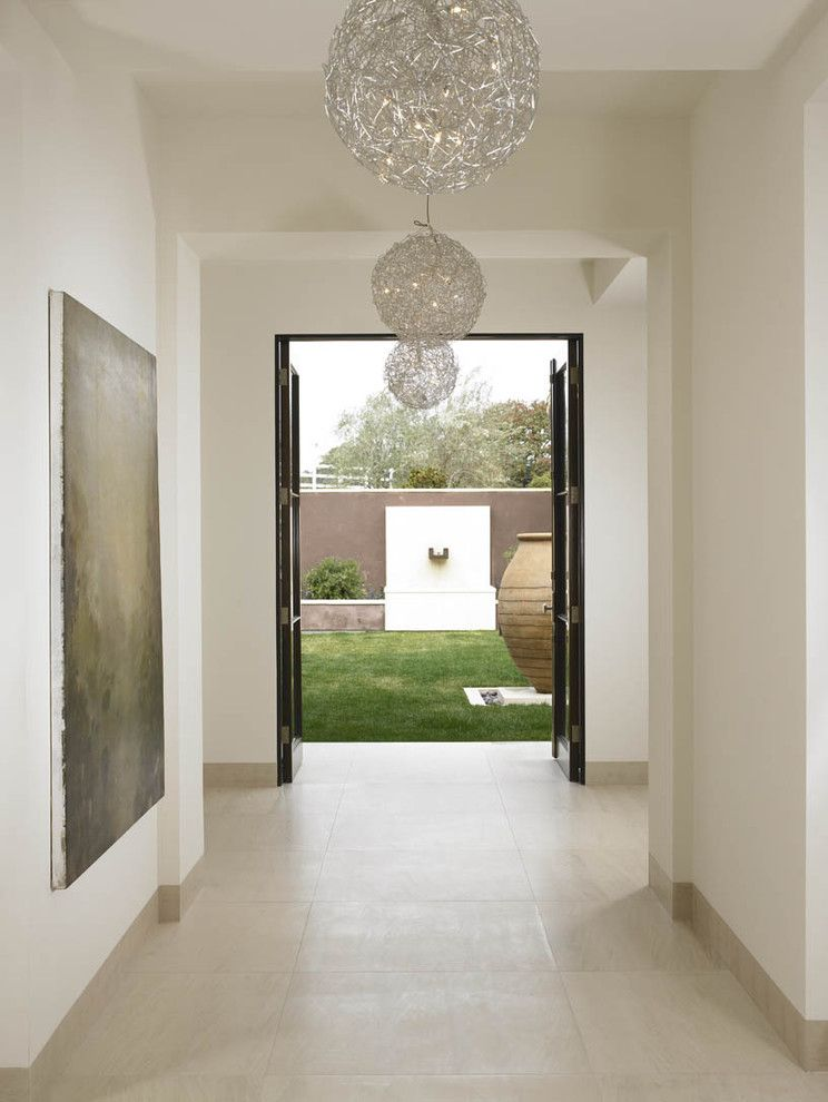 Impressive Brooklyn Limestone Mode San Diego Modern Hall Decorators With Double Doors Entrane Entry Floor Tile