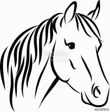 Bildergebnis Fur Pferdekopf Pferdekopf Pferde Silhouette Malvorlagen Pferde