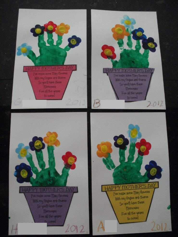 hand print flower bouquet with printable pre k spring art mothers day crafts mother 39 s day. Black Bedroom Furniture Sets. Home Design Ideas