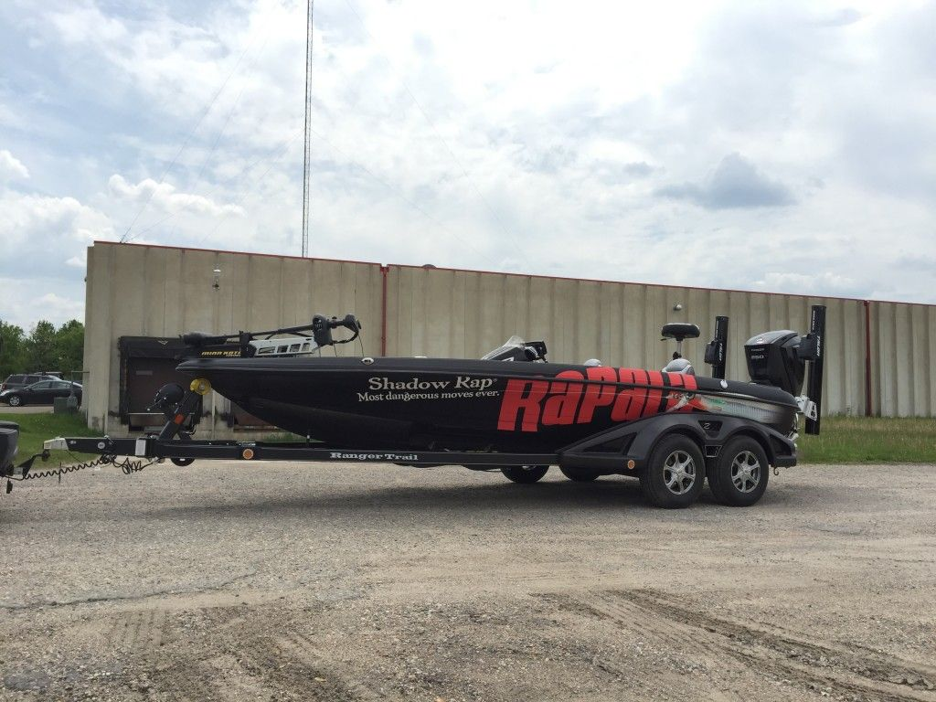 Professional Fishing Boat Wrap Ranger Boat Wrap For Team Rapala