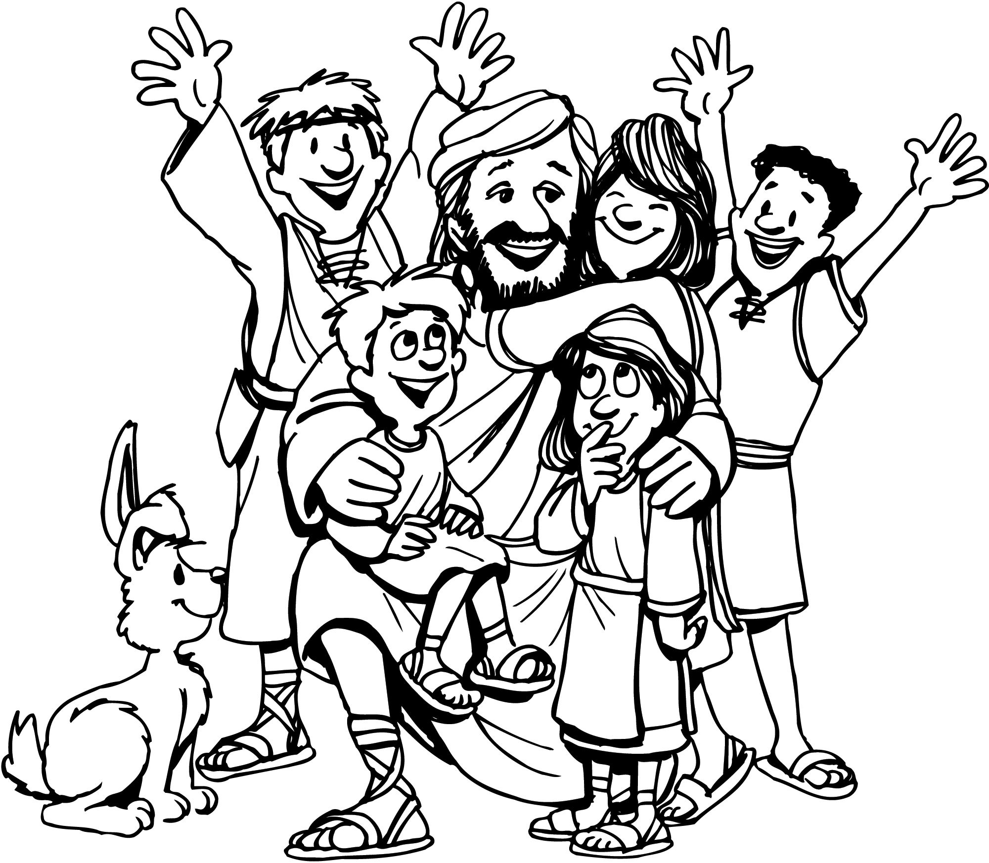 Jesus Loves The Little Children Coloring Page | fichas | Pinterest