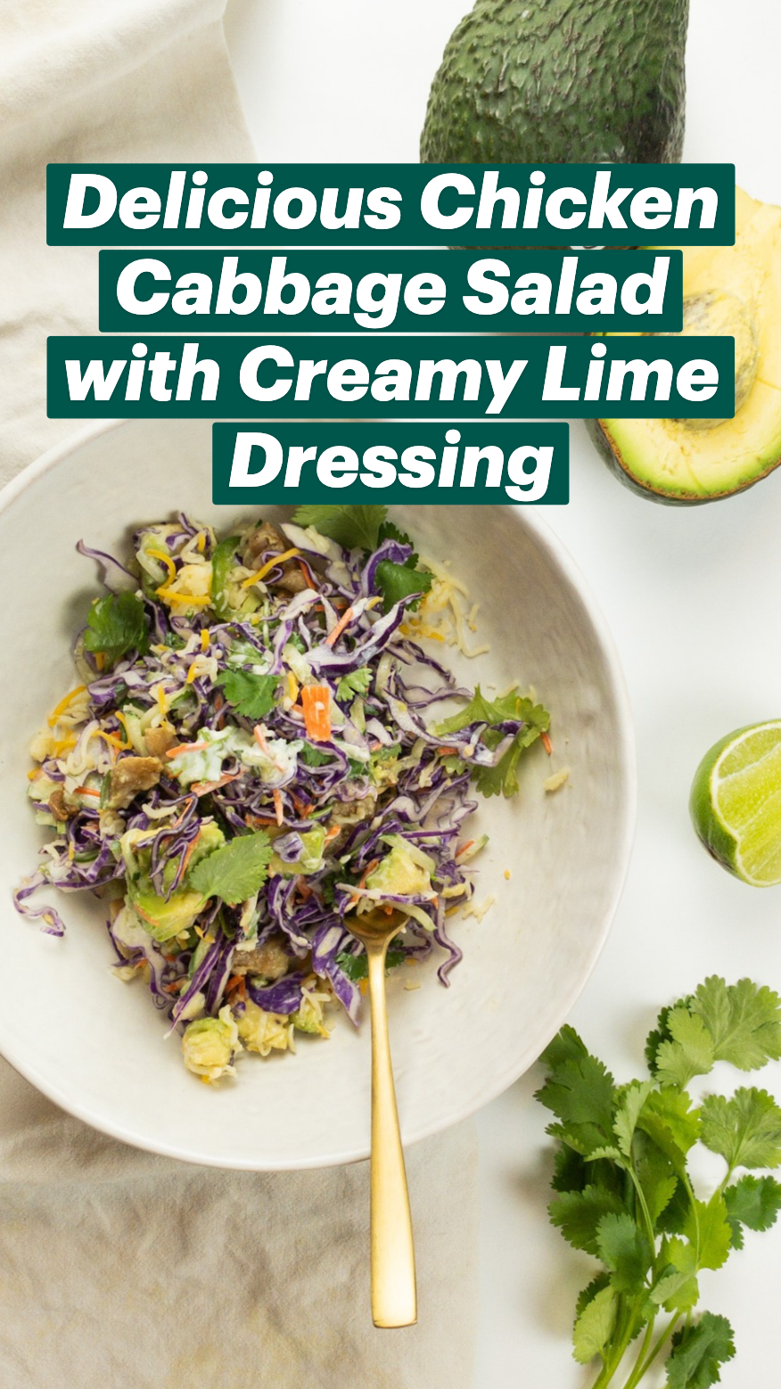 Delicious Chicken Cabbage Salad with Creamy Lime Dressing
