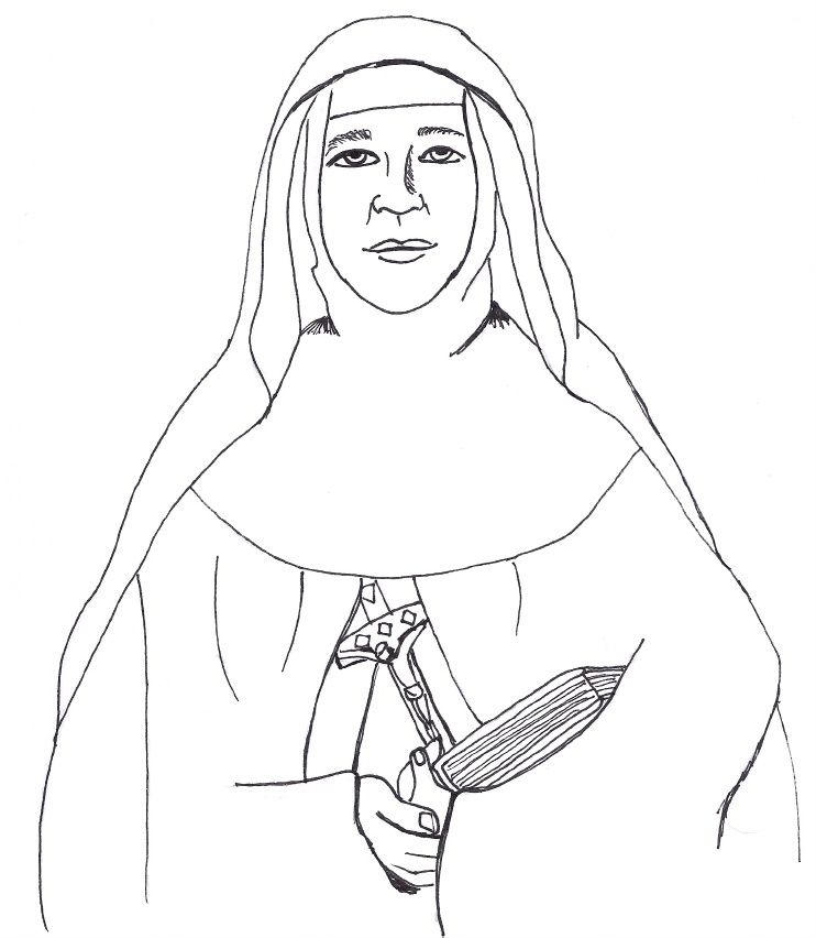 A coloring page of St Mary MacKillop, Australiau0027s first saint All - copy coloring pages of joseph and the angel