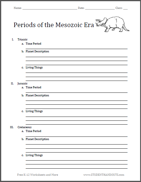 Periods of the mesozoic era blank outline students learn about a periods of the mesozoic era blank outline students learn about a favorite topic dinosaurs by completing this common core blank outline on the three fandeluxe Gallery
