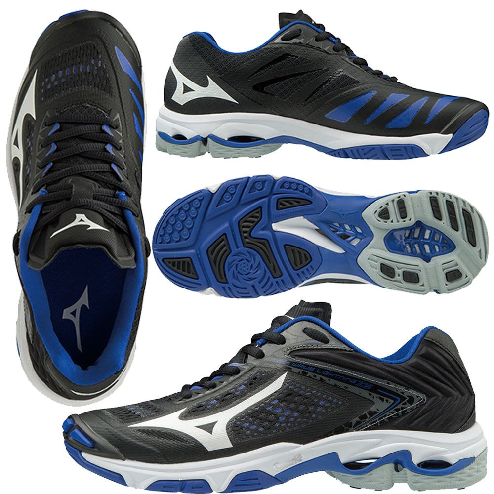 Mizuno Women S Wave Lightning Z5 Black Royal Mizuno Women Volleyball Shoes