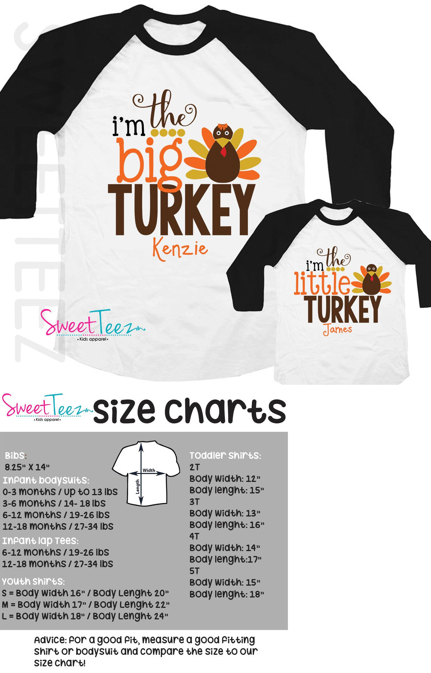 4e7ee110 Tops and T-Shirts 163401: Big Turkey Shirt Set Little Turkey Shirt Set  Thanksgiving Shirts Kids Siblings -> BUY IT NOW ONLY: $36.99 on eBay!