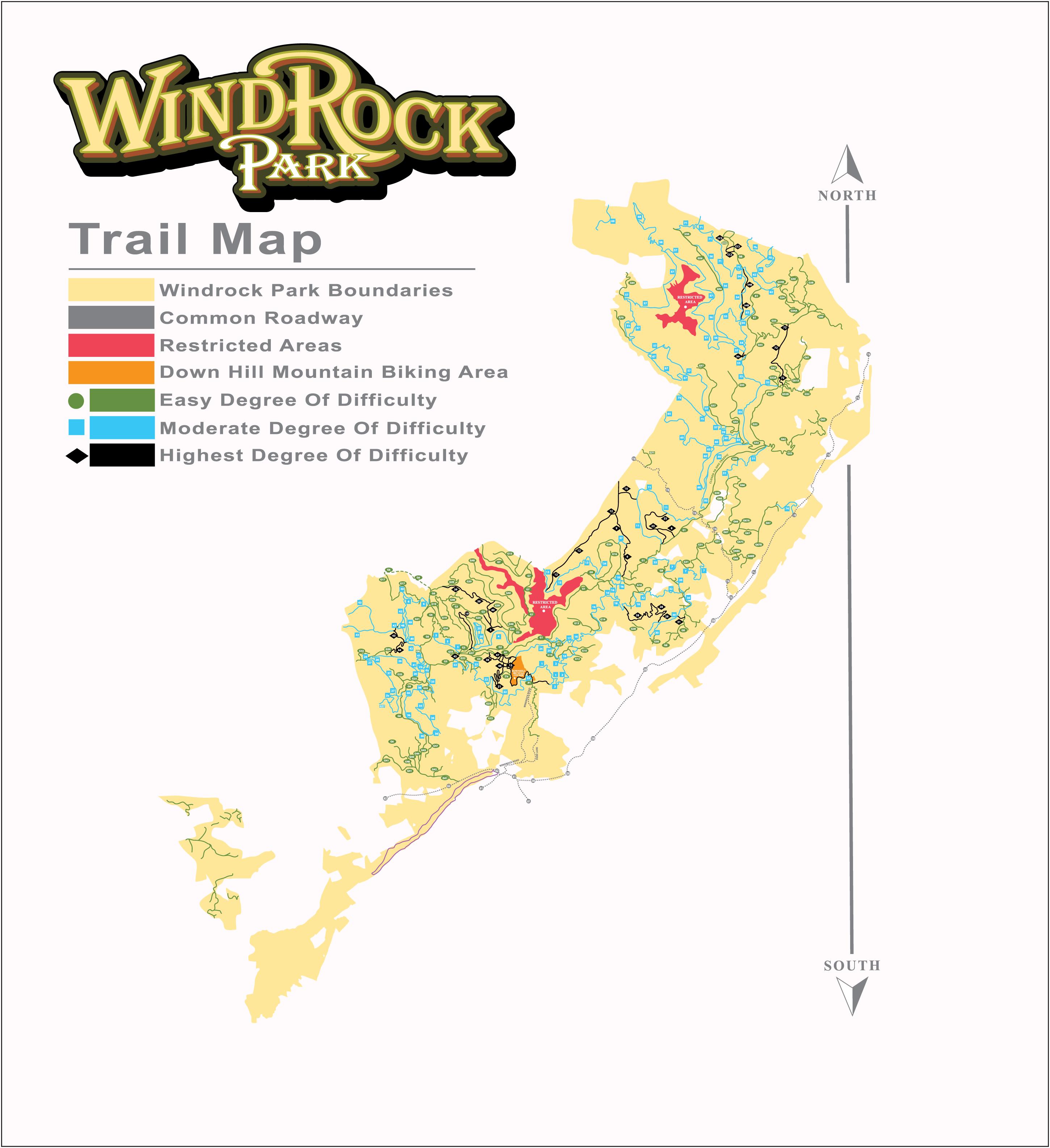 Park Maps Windrock Park Map Trail Maps Park