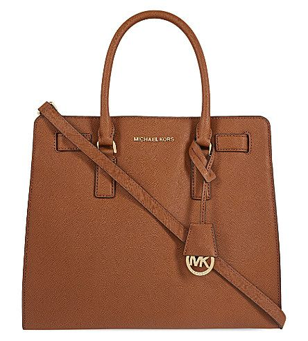 MICHAEL MICHAEL KORS Dillon large saffiano-leather tote (Luggage