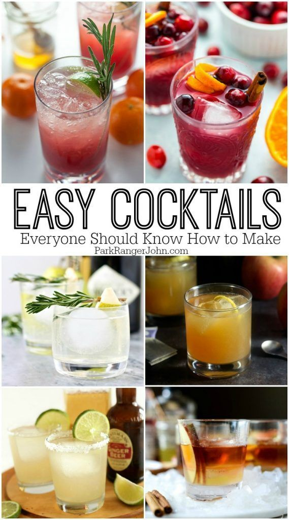 easy cocktail recipes everyone should know how to make including a martini manhattan my. Black Bedroom Furniture Sets. Home Design Ideas