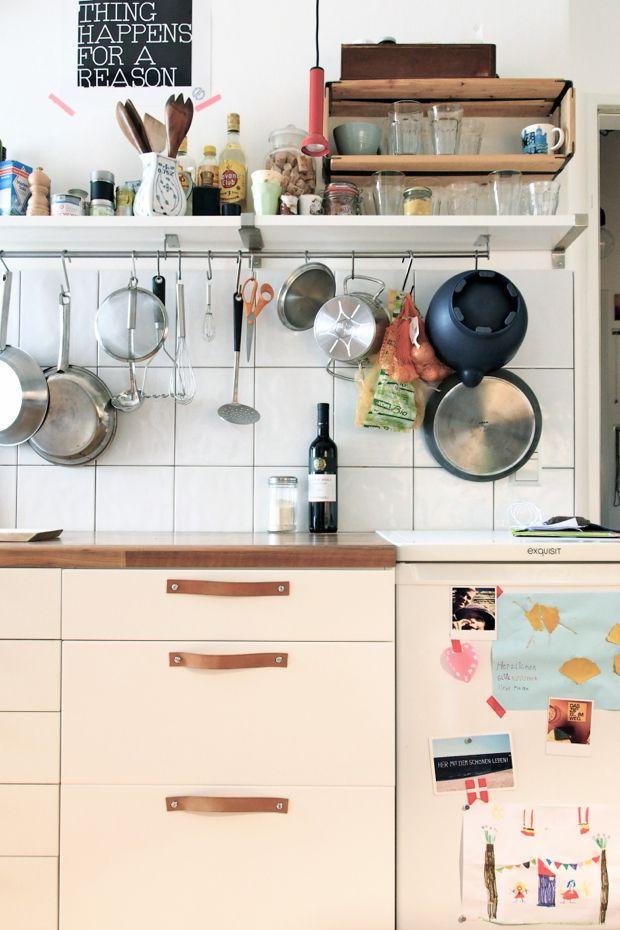 Meine grifflose Küche hat endlich Griffe | wohnen | Pinterest | Malm ...