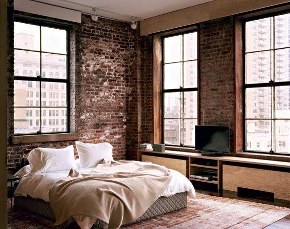 De briques et de bois Grand tableau, Planches de bois et Murs de