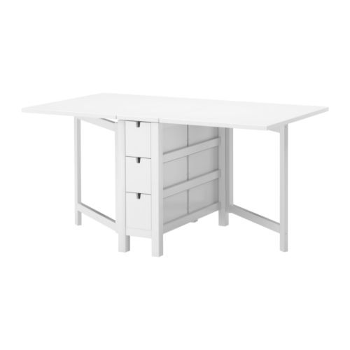 norden gateleg table, white | ikea table, ikea and tables