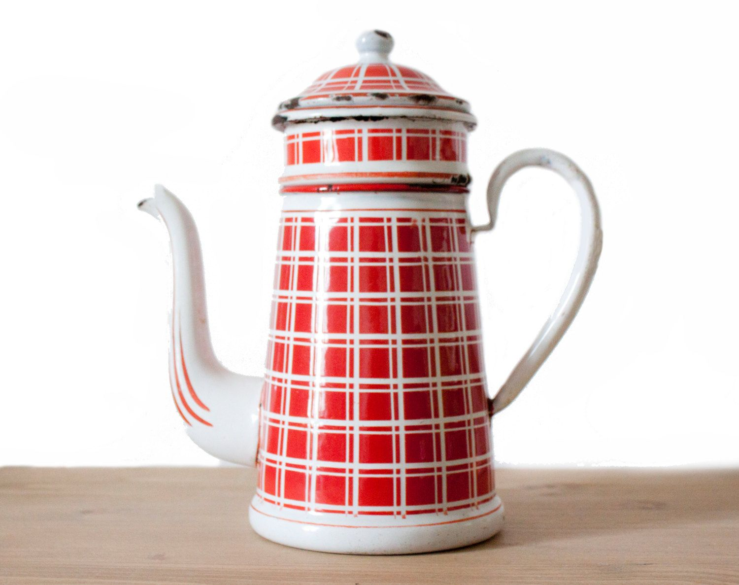 Rare Antique French White and red plaid by FrenchBaguette on Etsy, €140.00