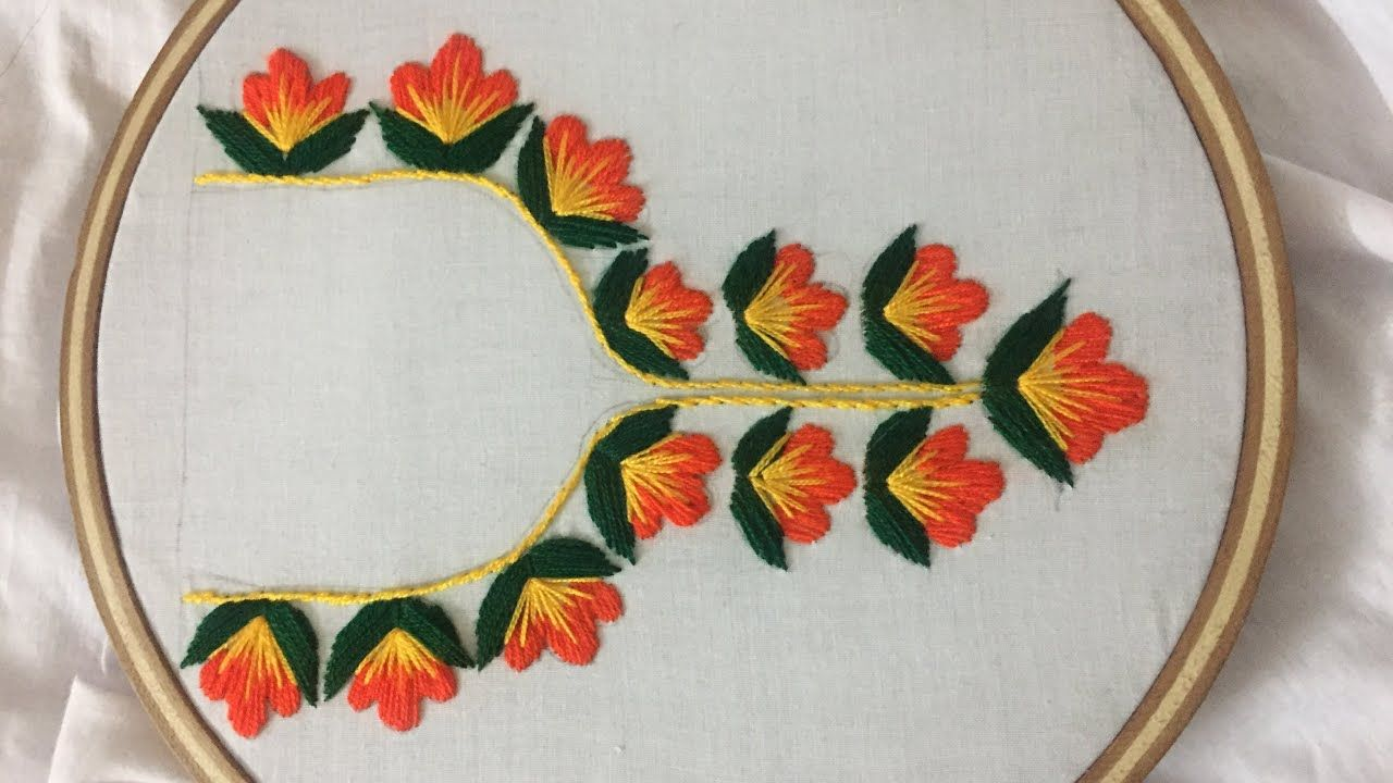 Hand Embroidery Neckline Design By Nakshi Design Art Youtube In 2020 Hand Embroidery Designs Handwork Embroidery Design Embroidery Designs,Powerpoint Template Design Free Download 2020