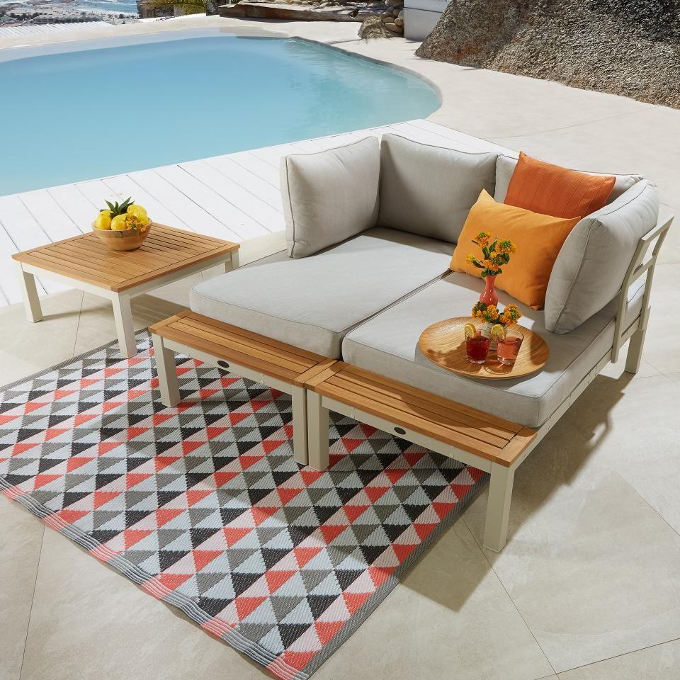 Lounge Element Malibu 2 Sitzer Mit Auflagen Grau Danisches Bettenlager In 2020 Sitzplatz Im Garten Lounge Outdoor Dekorationen