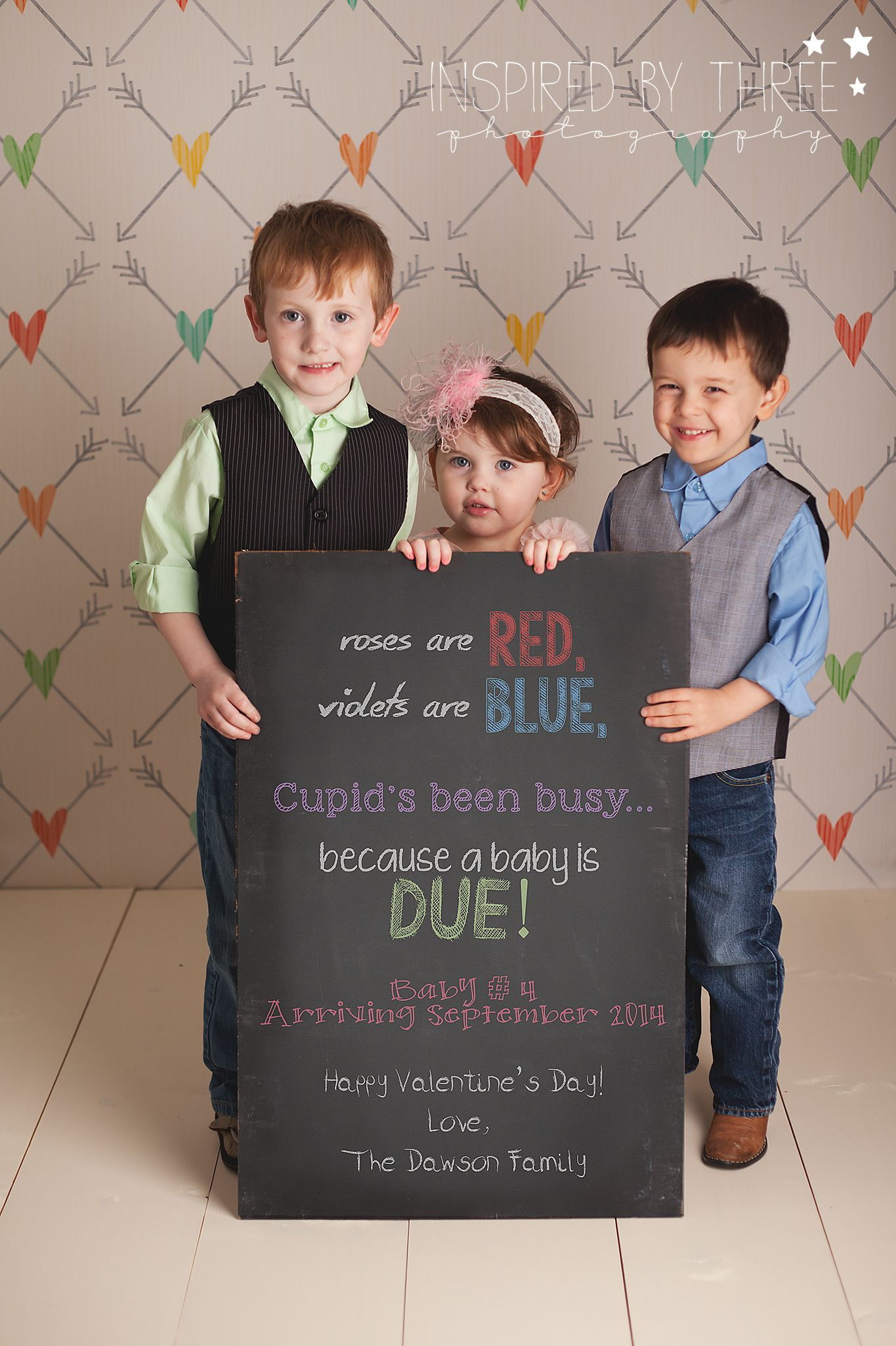 valentine pregnancy announcement inspiredbythreephotography – How to Make a Baby Announcement