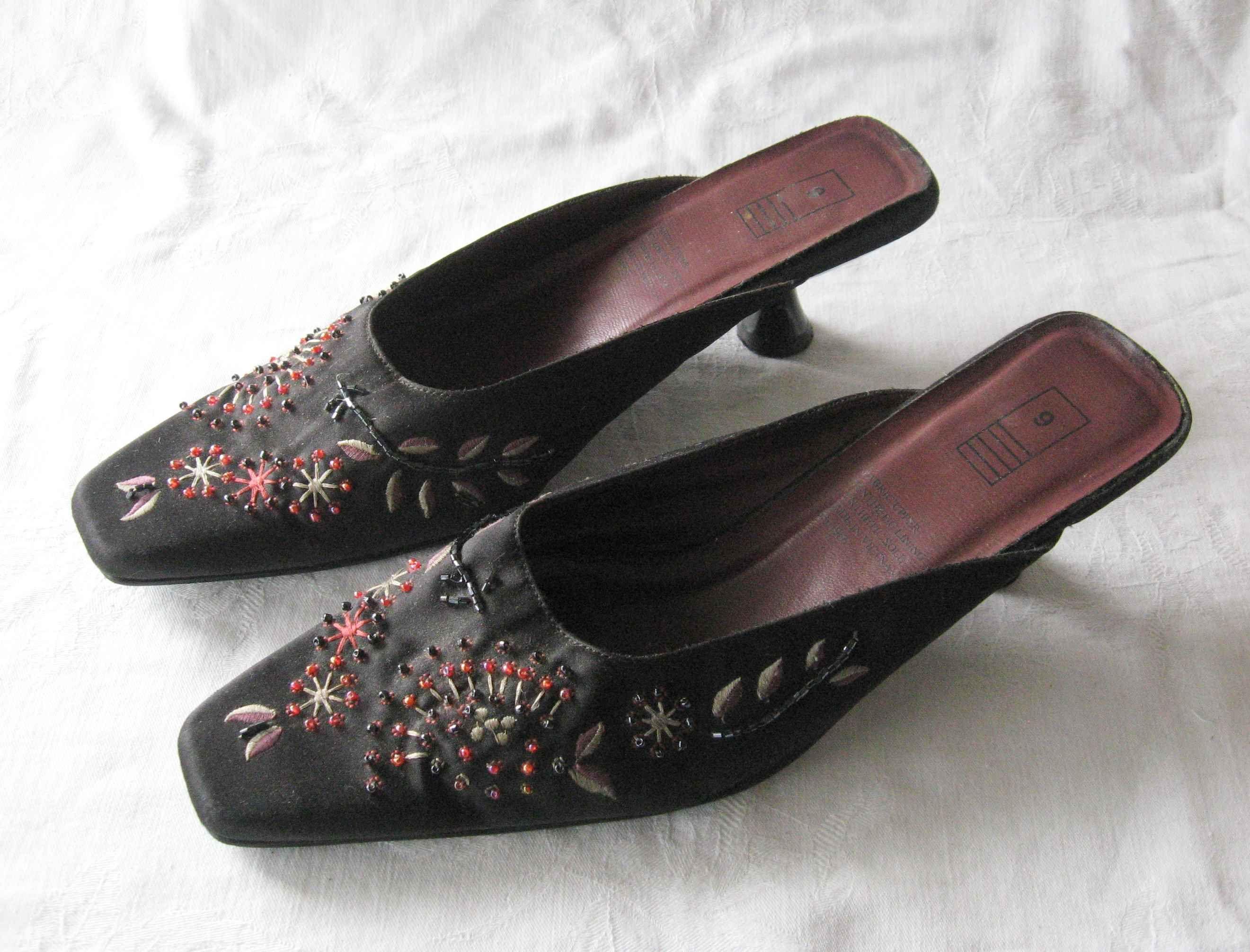 Black Beaded Vintage Shoes Beaded Shoes Black Heels Black Shoes