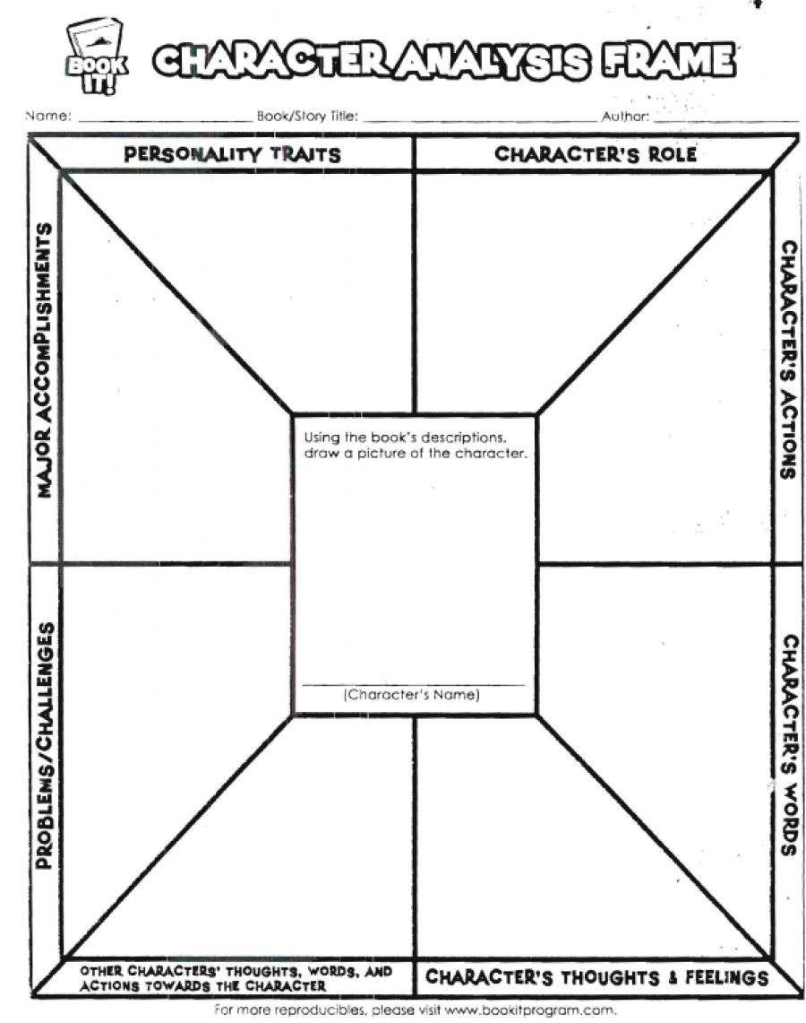 Printables Character Analysis Worksheet for any kind 0f reader this character frame helps reader