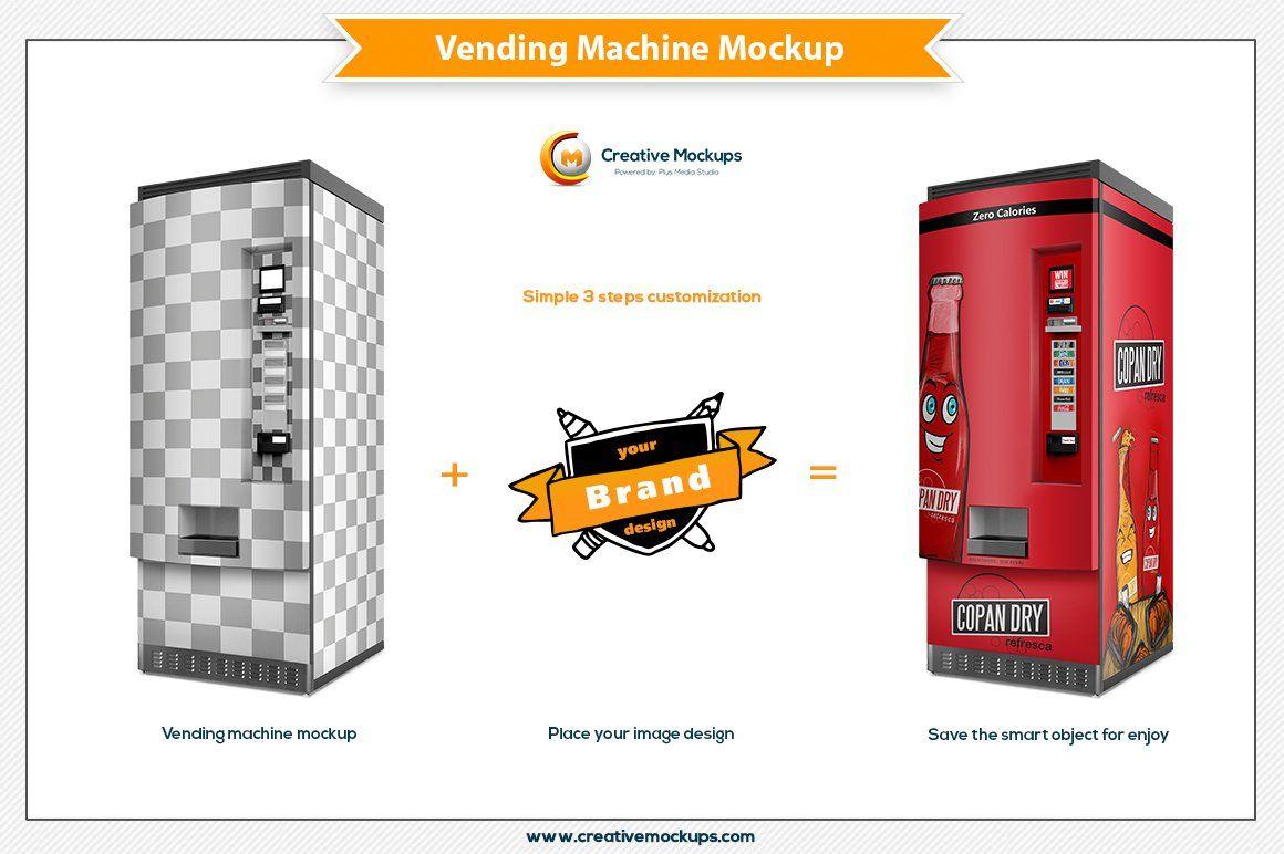 Vending Machine Mockup Template , Sponsored, rich