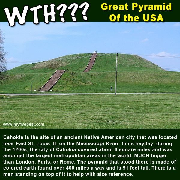This is the site of the Great Pyramid of the United States in East St.  Louis, Indiana! It was made by Native Americans. h… | Great pyramid,  American cities, Cahokia