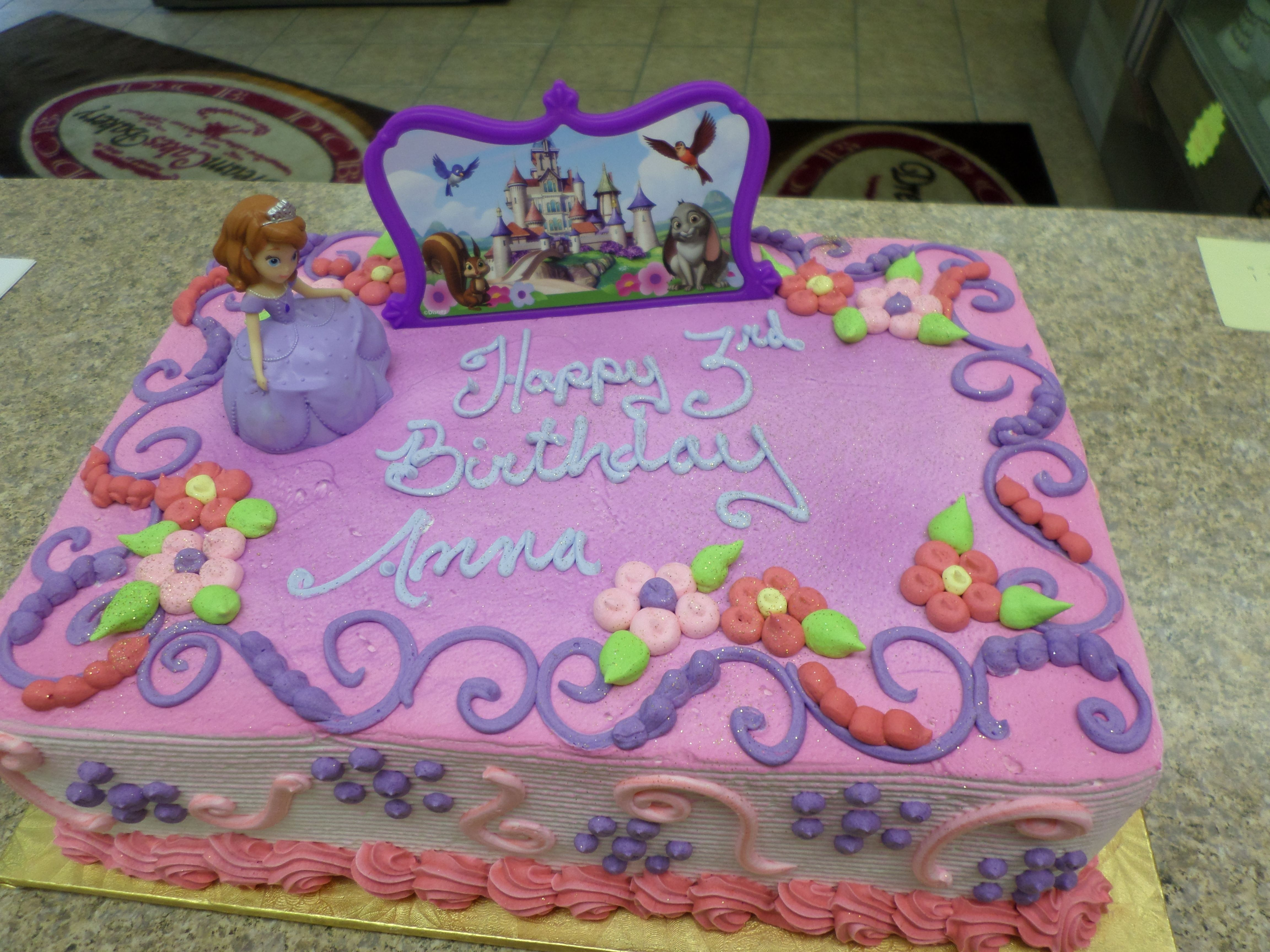 Surprising Sophia The First Sheet Cake With Images Sofia The First Birthday Cards Printable Opercafe Filternl