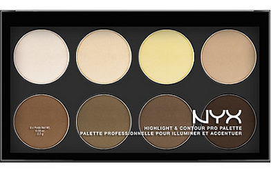 Favorite highlighting/contouring pick: NYX Cosmetics Highlight & Contour Palette