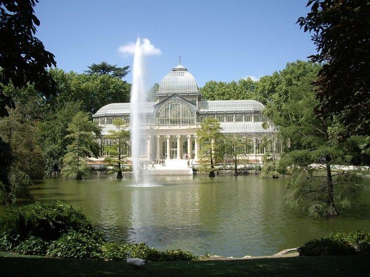Parque Del Retiro Madrid Palácio De Cristal