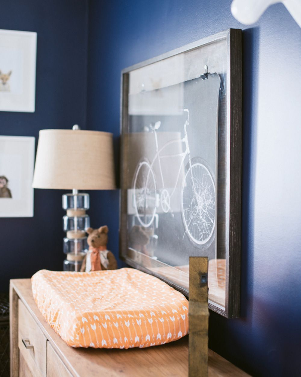 Une chambre de bébé orange et bleue | Déco Enfants / Kids ...