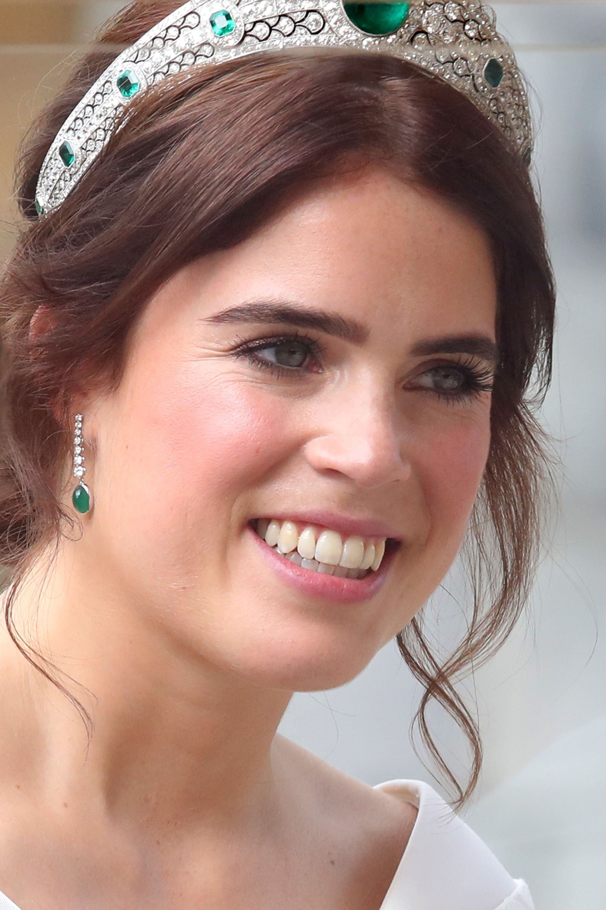Princess Eugenie's Wedding Earrings Were a Gift