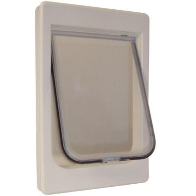 Ideal Pet 7 5 In X 10 5 In Medium Hefty Kat Cat Door With Plastic Frame And Rigid Flap Mpf The Home Depot Cat Door Pet Doors Pet Door