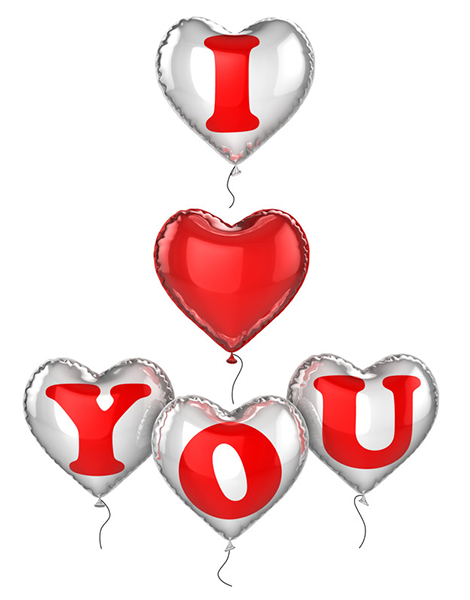 Love You With Balloons I Love You Pictures Love You Images Love Heart Images