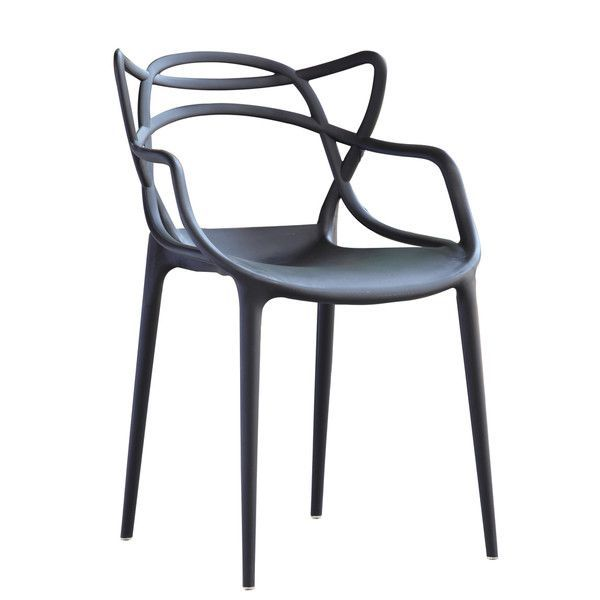 Dynax Weave Modern Plastic Chair, Set of 4 , White or Black - Utopia Alley