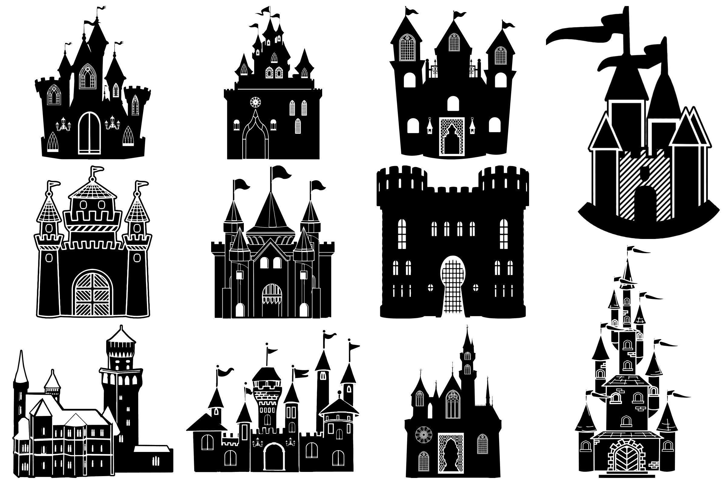 Castle Silhouettes Ai Eps Png Castle Silhouette Disney Castle Silhouette Castle