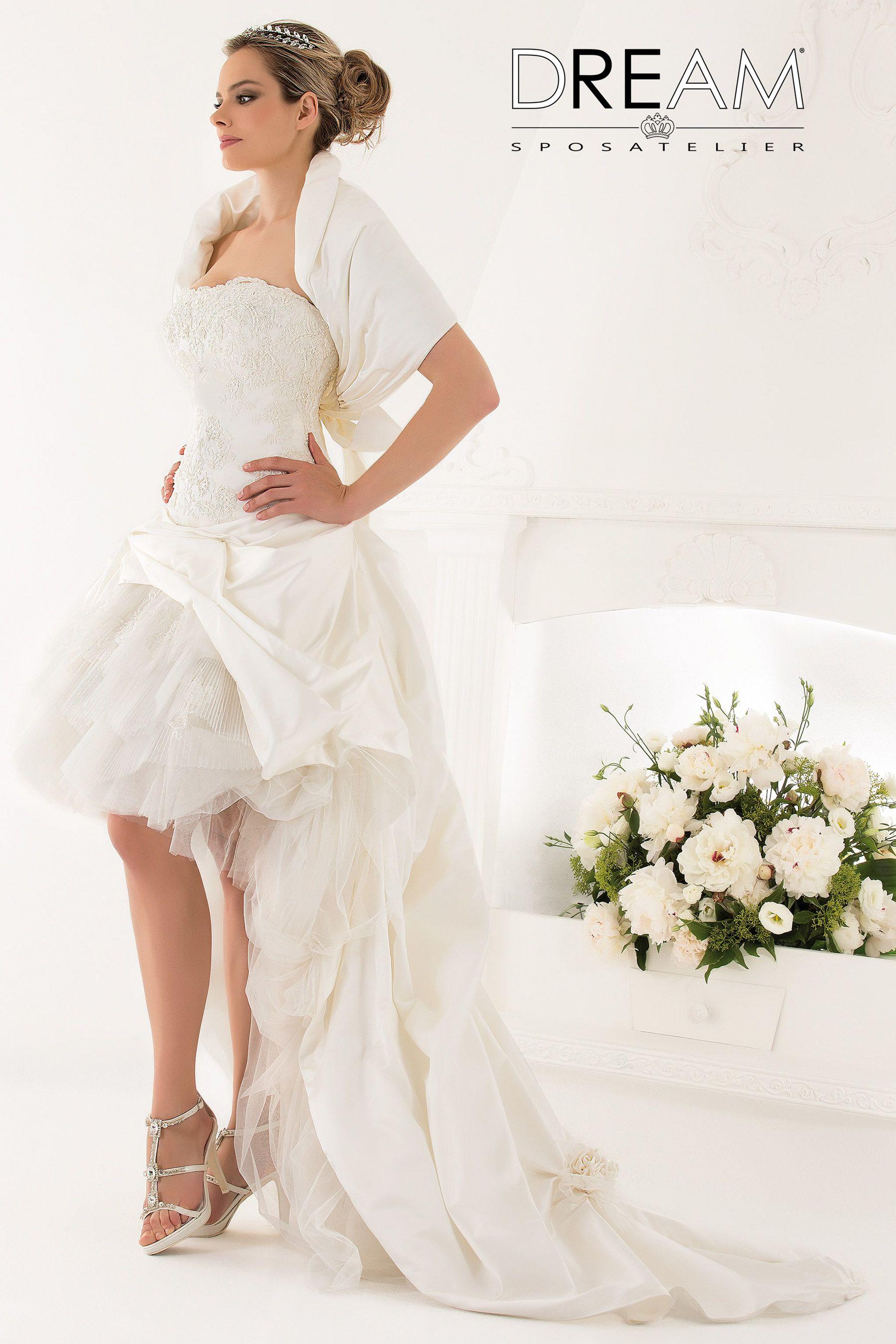 Abito Da Sposa Trasformabile Corto Modello Passion Abiti Da Sposa Vestito Da Sposa Abiti Da Sposa Alta Sartoria