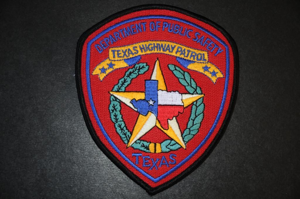 Texas Department Of Public Safety Highway Patrol Patch Texas State Trooper Police Badge Texas Police