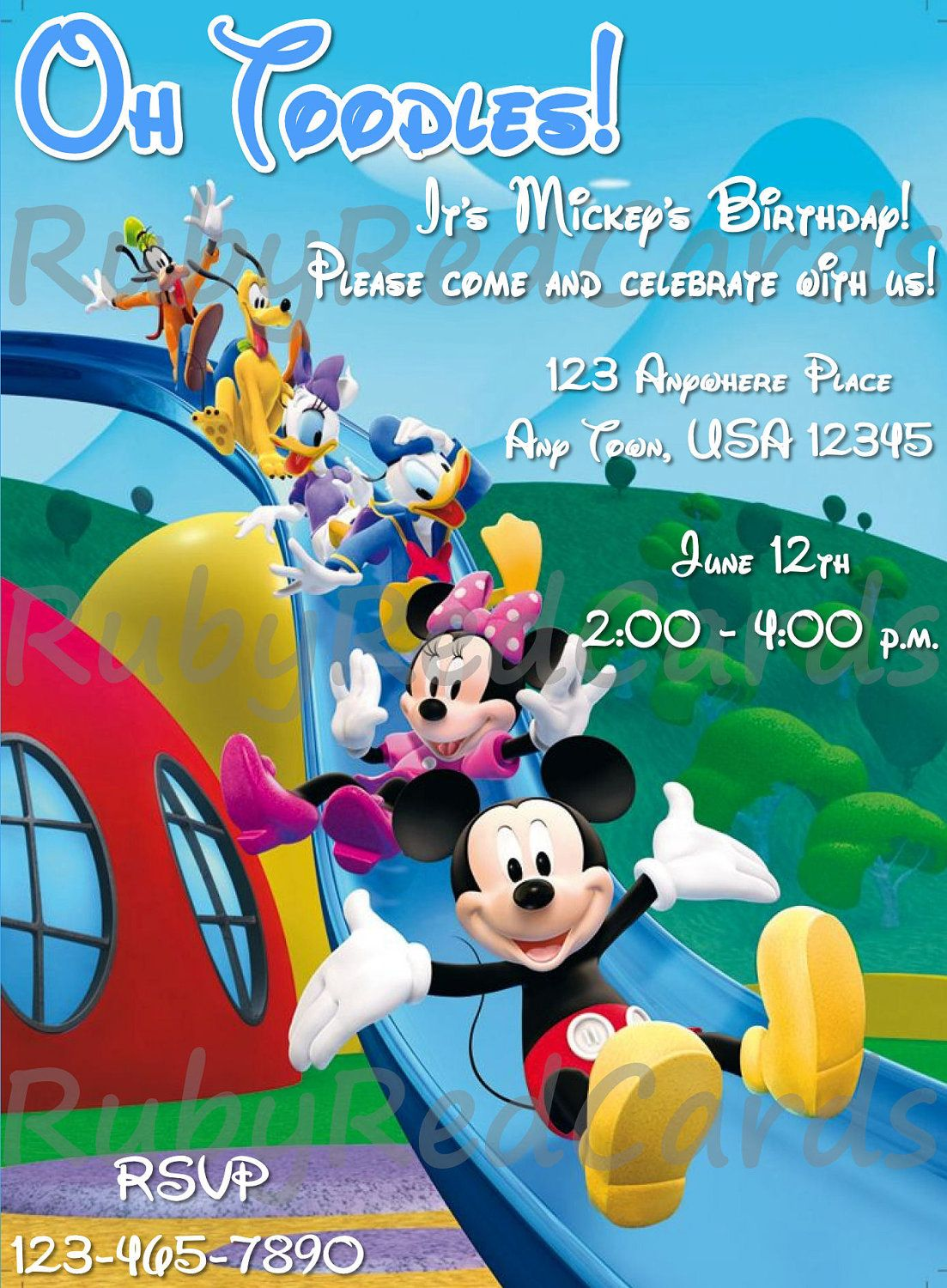 Mickey Mouse Clubhouse Invitations Mickey mouse clubhouse   birthday ...