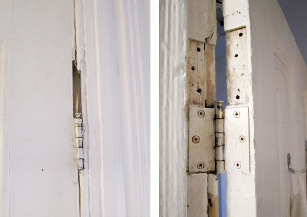 Repair Hinge Holes On Door And Frame Using Paint Stirrers Door Frame Frame Paint Stirrers
